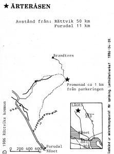 Ärteråsen - furudal karta