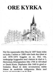 Ore kyrka - furudal