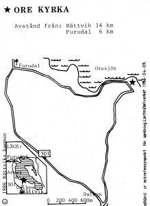 Ore kyrka - furudal karta