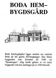 Boda hembygdsgård - Furudal