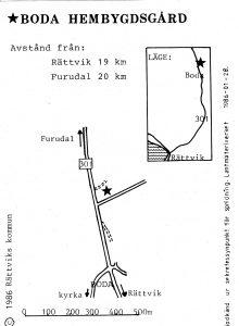 Boda hembygdsgård - Furudal karta