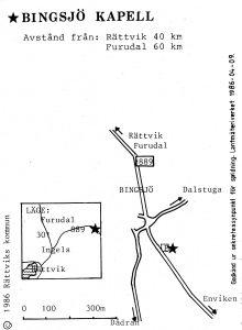 Bingsjö kapell - Furudal karta