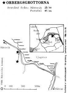 Orbergsgrottorna - Furudal karta