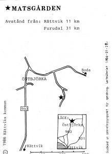 Matsgården - Furudal karta