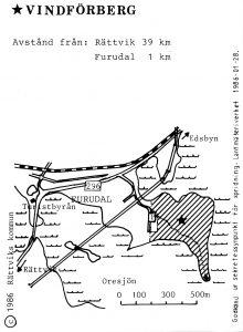 Vindförberg - Furudal karta