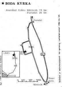 Boda kyrka - Furudal karta