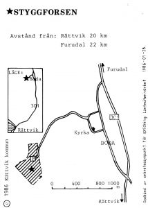 Styggforsen - Furudal karta